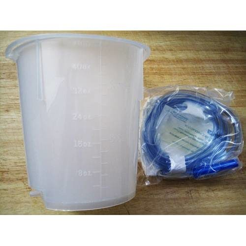 Plastic Enema Bucket with tube