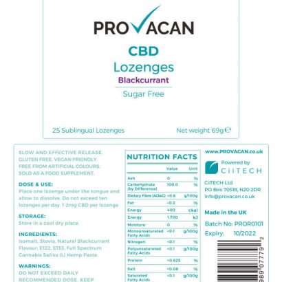 CBD lozenges blackcurrant